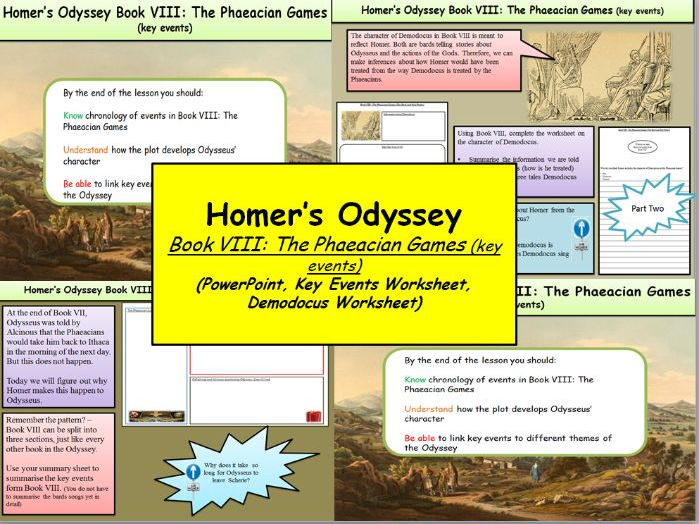 Homers Odyssey Book Viii The Phaeacian Games Key Events By