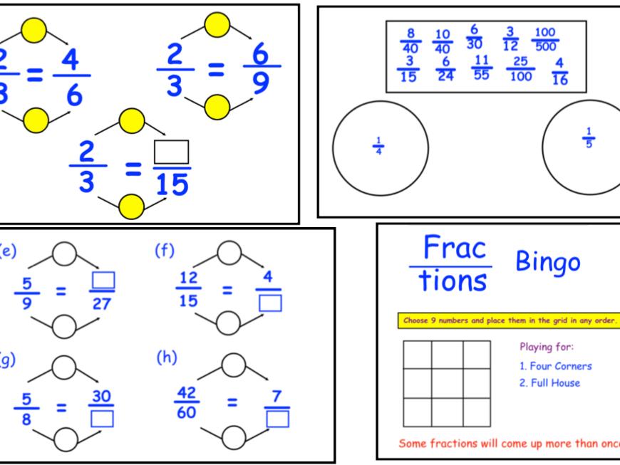 Equivalent Fractions & Bingo