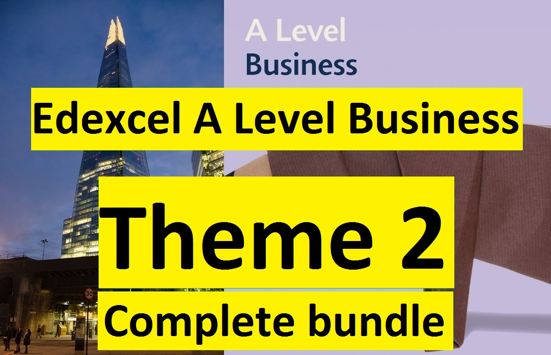 Edexcel A Level Business Theme 2 (COMPLETE COURSE)