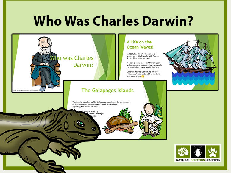 Who was Charles Darwin? PowerPoint Presentation (scientists, natural selection, KS2)