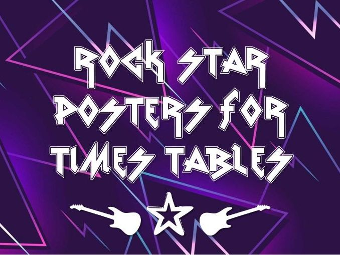 Times Table Rock Stars- text and posters for display