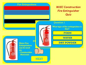WJEC Construction & The Built Environment Level 1/2 - Fire Extinguisher Quiz