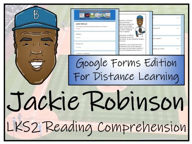 LKS2 Jackie Robinson Reading Comprehension & Distance Learning Activity