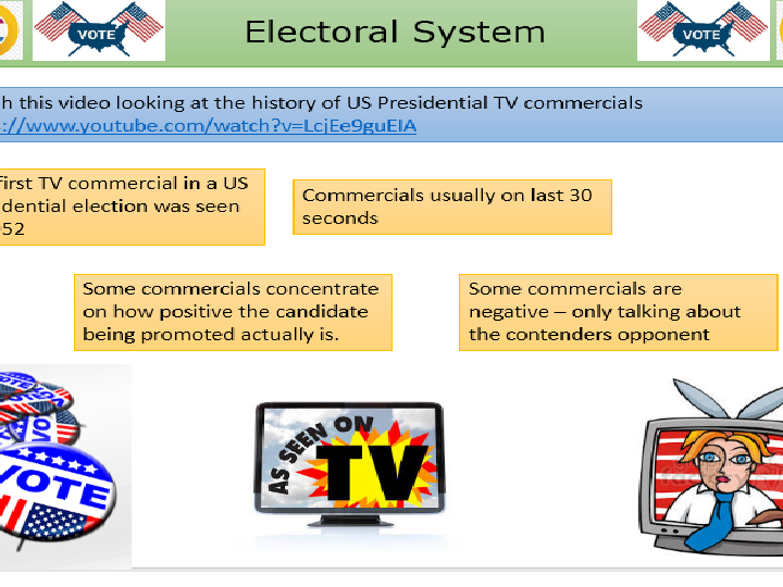 US Presidential Election - The Media.  US Government and Politics