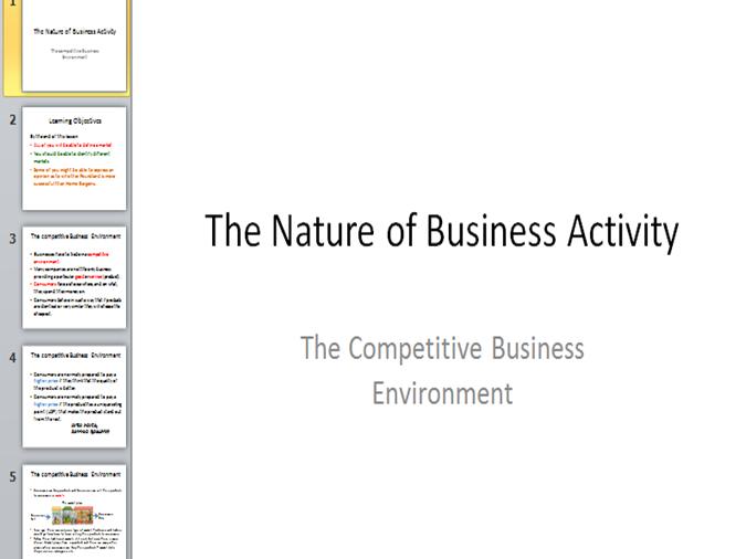 gce business studies