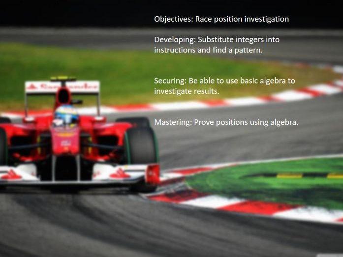 F1 Race Algebra