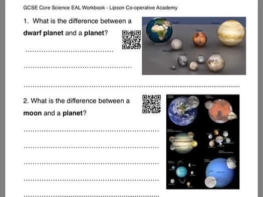 GCSE Science P1 The Earth in the Universe (EAL)