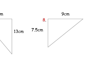 KS2 Area of Triangles (Differentiated, with answers)