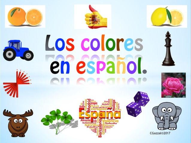 Spanish Colours - Los Colores.