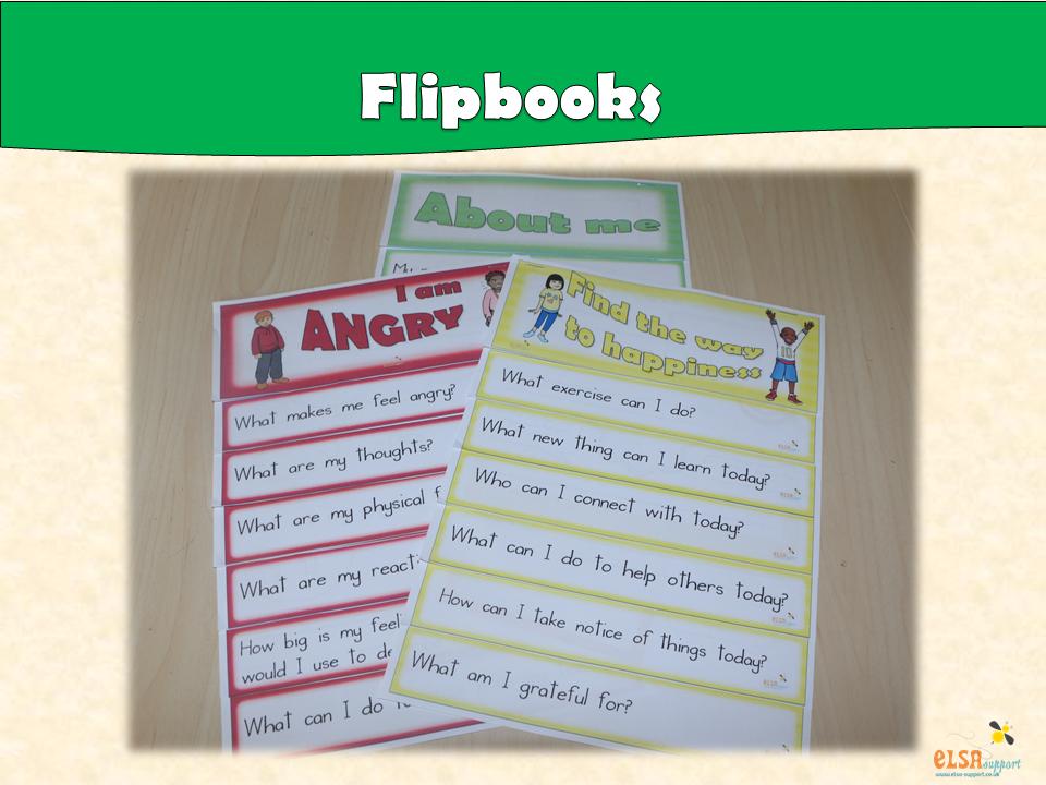 ELSA SUPPORT Flipbooks for Social and Emotional work - PSHE, Emotions