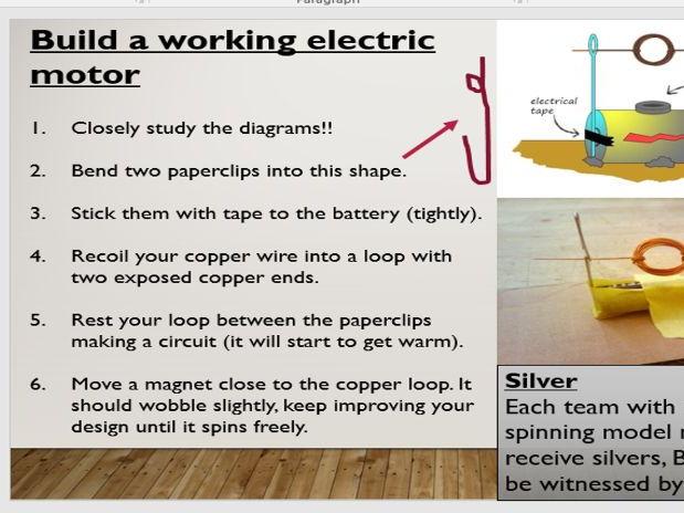 STEM Building electromagnets and motors