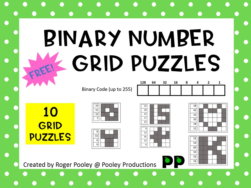 Binary Number Grid Puzzles - Sample