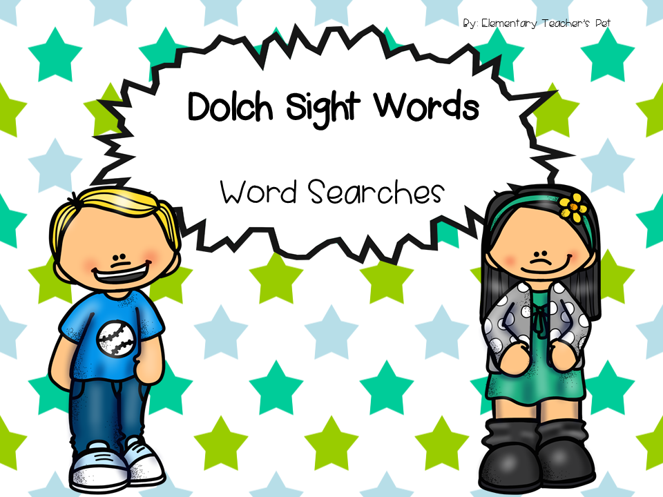 Dolch Sight Words- Word Searches