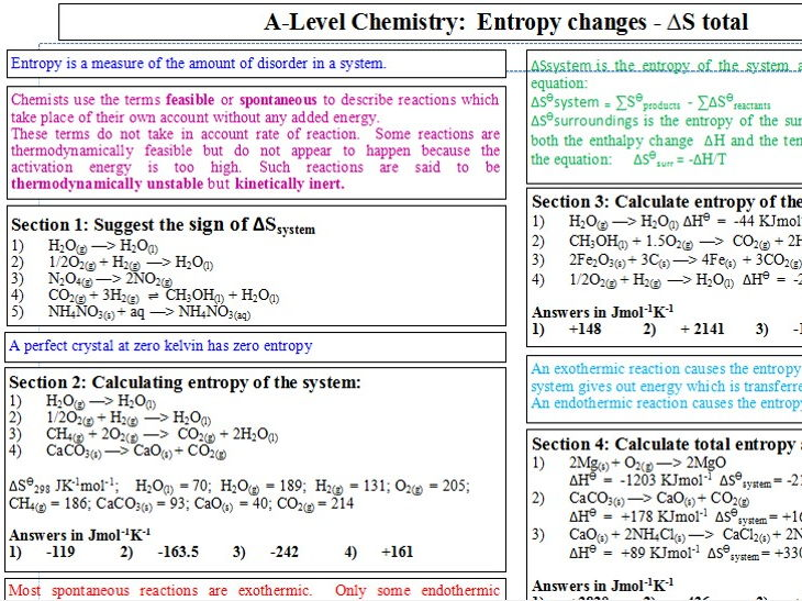 Entropy - calculating total entropy