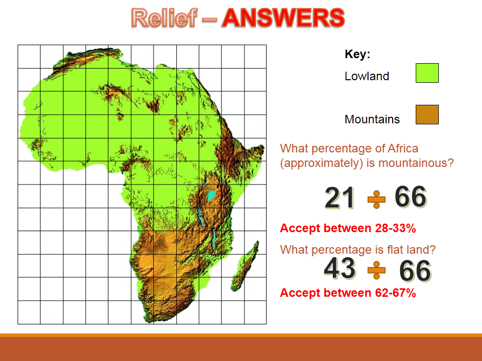 Year 7 2017 SOW Spring Term Africa 2) + 3) Africa- a diverse country WITH ANSWERS