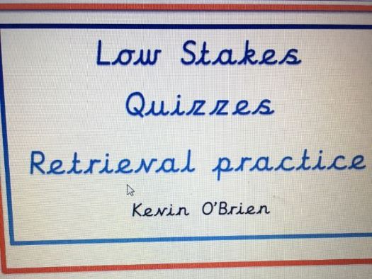 Low Stakes Quizzes to aid retrieval Y6 A1