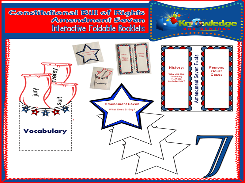 Constitutional Bill of Rights: Amendment Seven Interactive Foldable Booklets