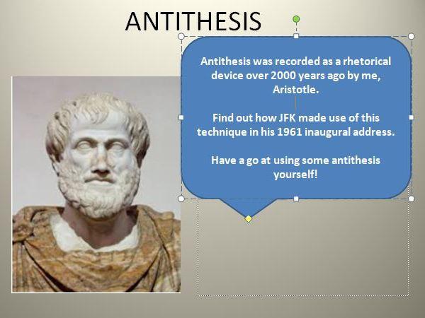 Speech Writing: Antithesis