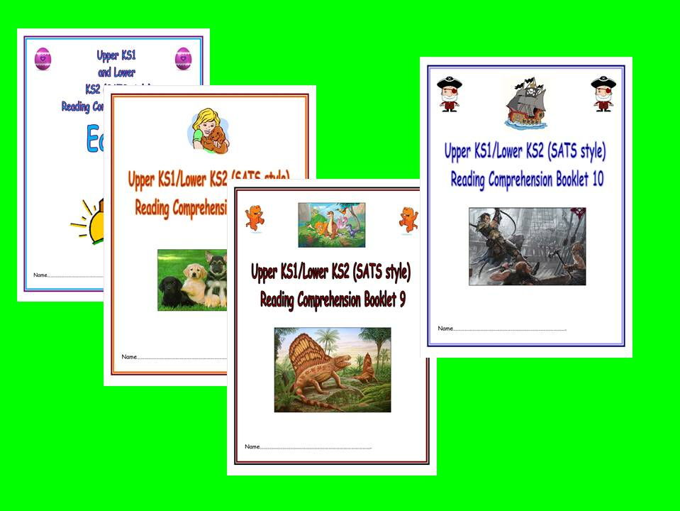 KS1/LKS2 SATS style Reading Comprehension Booklets, Bundle 3