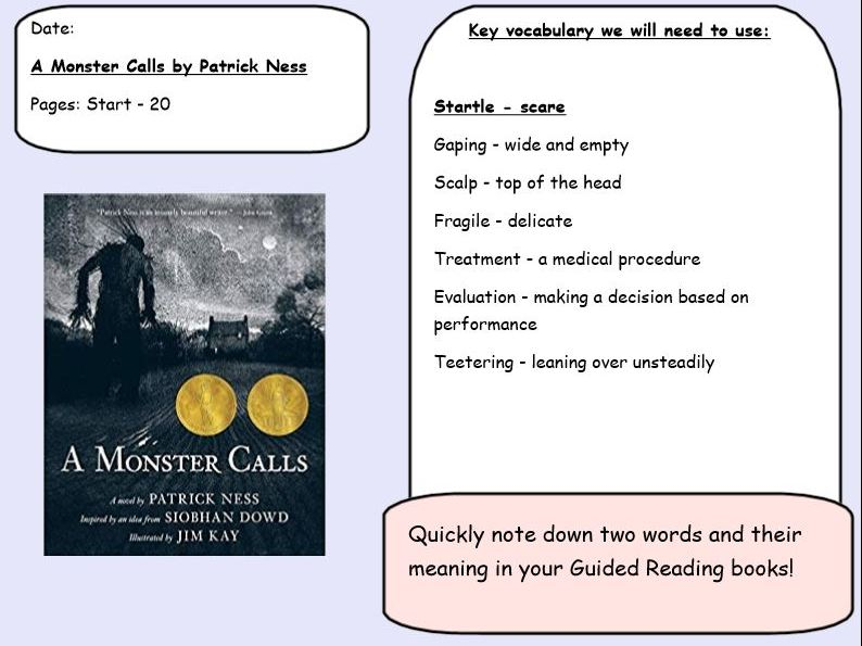 Year 5/6 - Guided Reading - A Monster Calls (Whole Book)