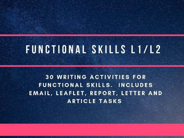 30 Functional Skills writing activities
