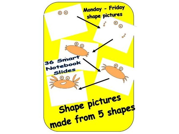 Shape of the day - 5 shapes to make a picture - Smart notebook