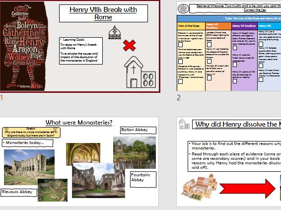 Tudors Dissolution of the Monasteries