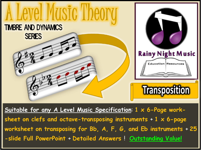 A LEVEL MUSIC TRANSPOSING INSTRUMENTS and TRANSPOSITION