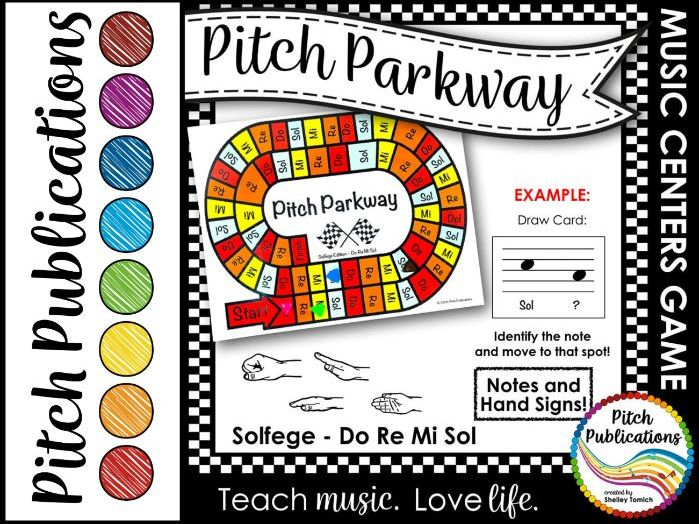 Music Centers: Pitch Parkway - Solfege Do Re Mi Sol Game, Practice