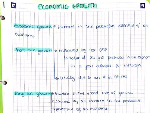 AS/A-Level Year 1 Macro Economics Notes