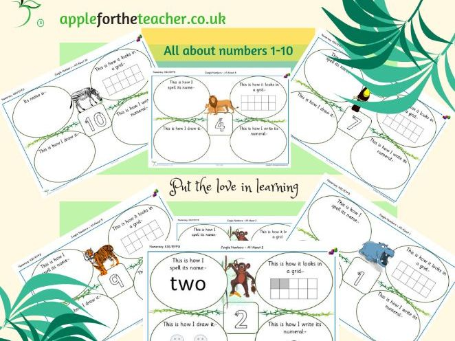 All About Numbers 1-10 in Different Forms