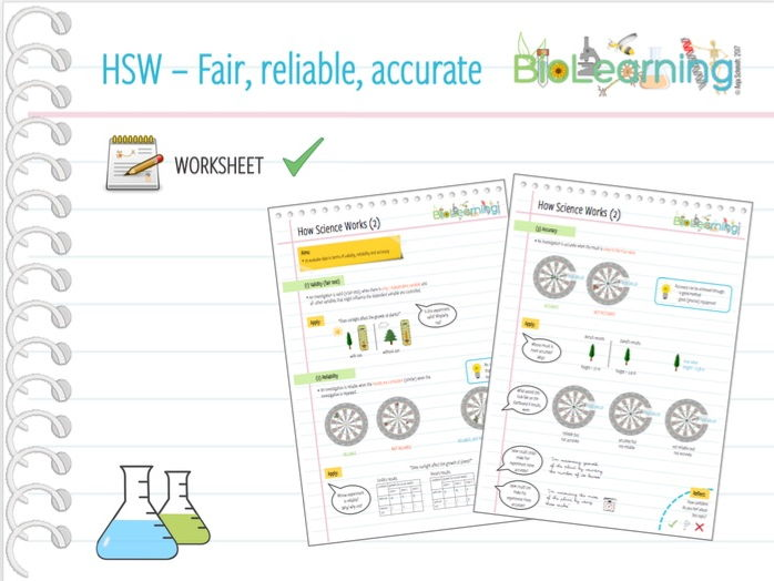 how science works hsw worksheet 2 fair test reliable accurate ks3 ks4 by. Black Bedroom Furniture Sets. Home Design Ideas