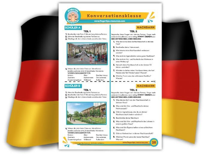 Nachbarn - German Speaking Activity
