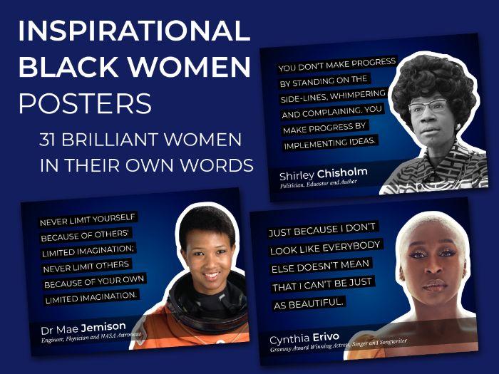 Inspirational Black Women Posters