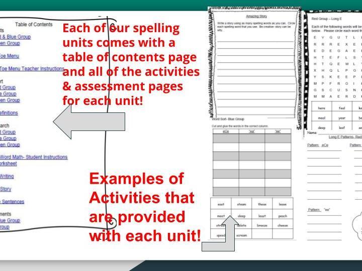 "3/4 Grade Spelling Unit #10-3 Different Levels Differentiation teach ""ore, oar, oir, air"" patterns"
