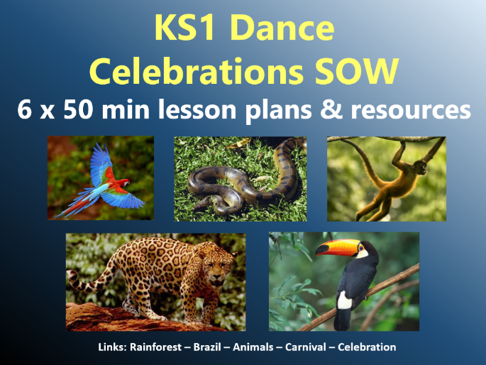 KS1 Dance - Rainforest topic - Celebrations SOW