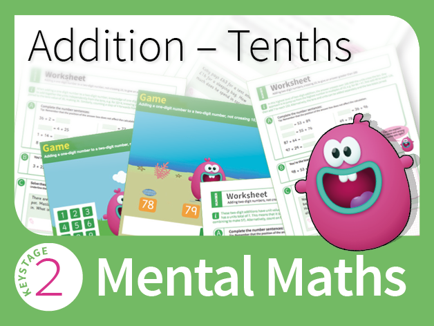Mastering Mental Addition - Decimals (Tenths)