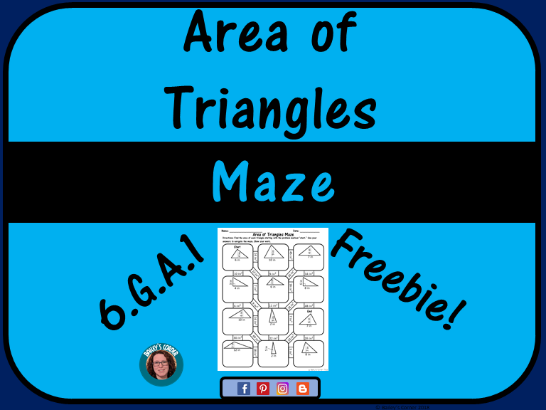 Area of Triangles Maze
