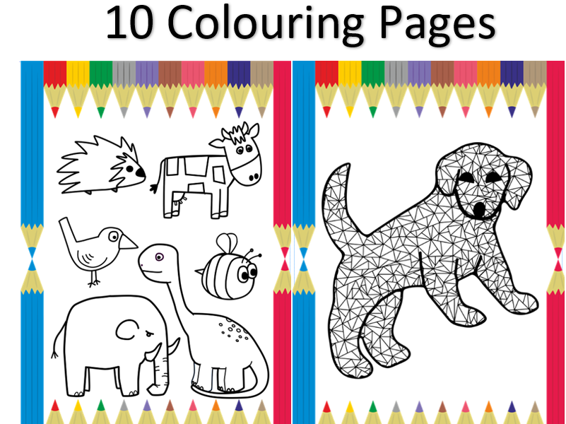 10 Colouring Pages for Nursery Children