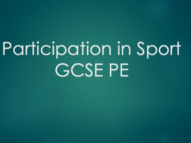 GCSE PE: Socio-Cultural Influences, Participation Rates (Component 2)