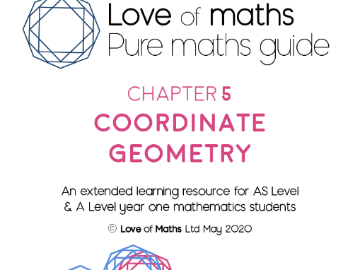 Pure Maths Guide Coordinate Geometry chapter from Love of Maths