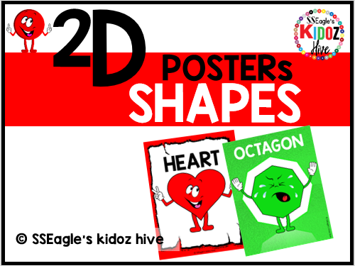 Distance Learning. 2D shapes Posters