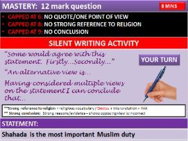 AQA RS ISLAM PRACTICES:  Revision of all ISLAM Practices and linked quotes