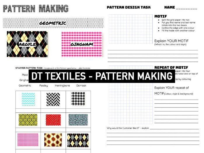Pattern Design Activity | DT Textiles