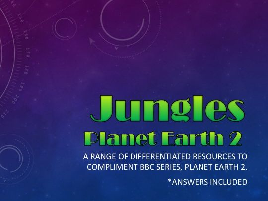 Planet Earth 2 : Jungles : Activity pack