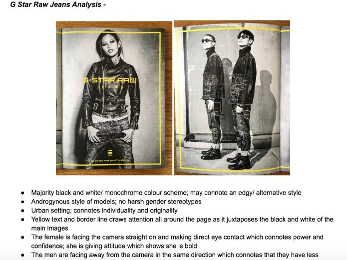 Huck Magazine Analysis - G Star Raw Advertisement