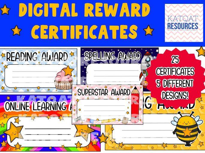 Digital Certificates - Subject Rewards - Distance Learning