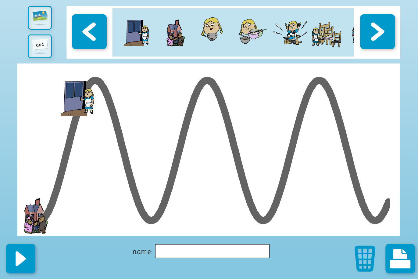 Story Timeline Interactive Activity - Goldilocks - KS1 Literacy
