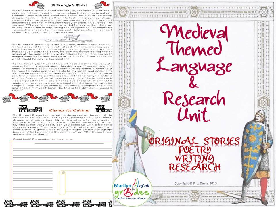 Medieval Themed Language Arts and Research Unit.