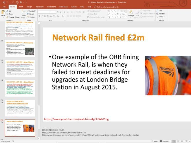 21. Regulation, price capping (Slides, Activities and Notes) - A-Level Economics - Theme 3